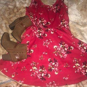 ❣️ Cute red floral dress ❣️
